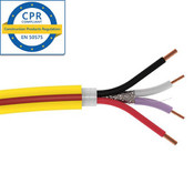 SCP Universal Control Cable 2x22AWG + 2x18AWG LSZH YELLOW w/RED stripe Dca rated 305m (Lut Green)